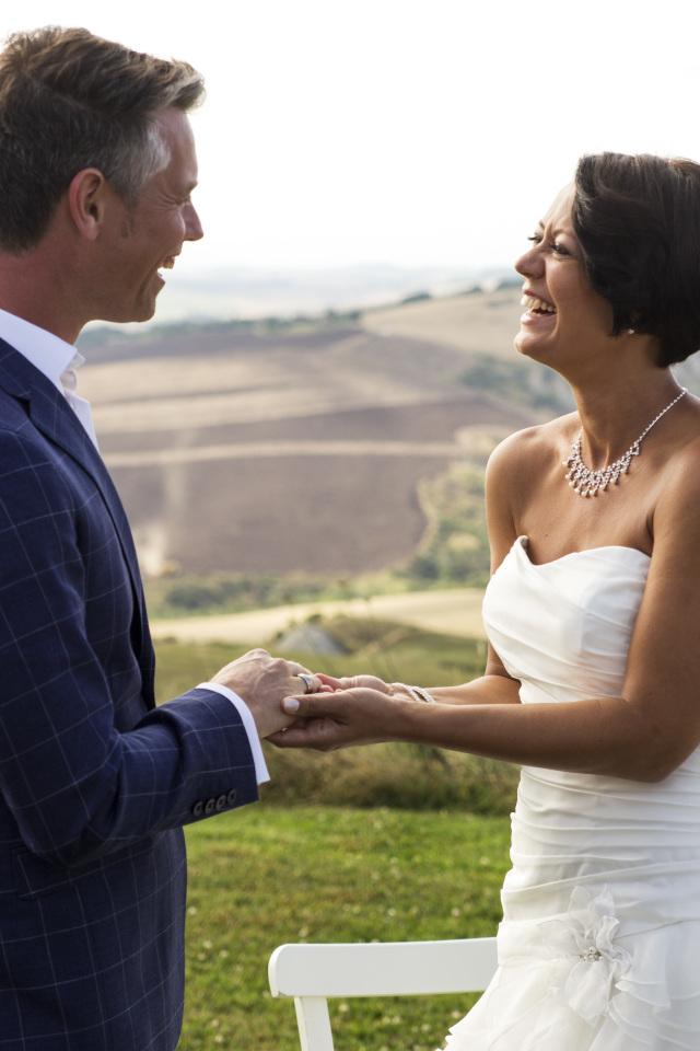 Toscaanse Bruiloft koppel