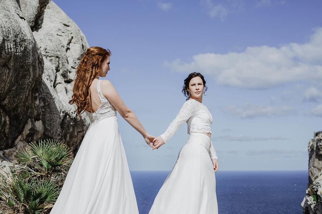 Bruidsfotografie twee bruiden