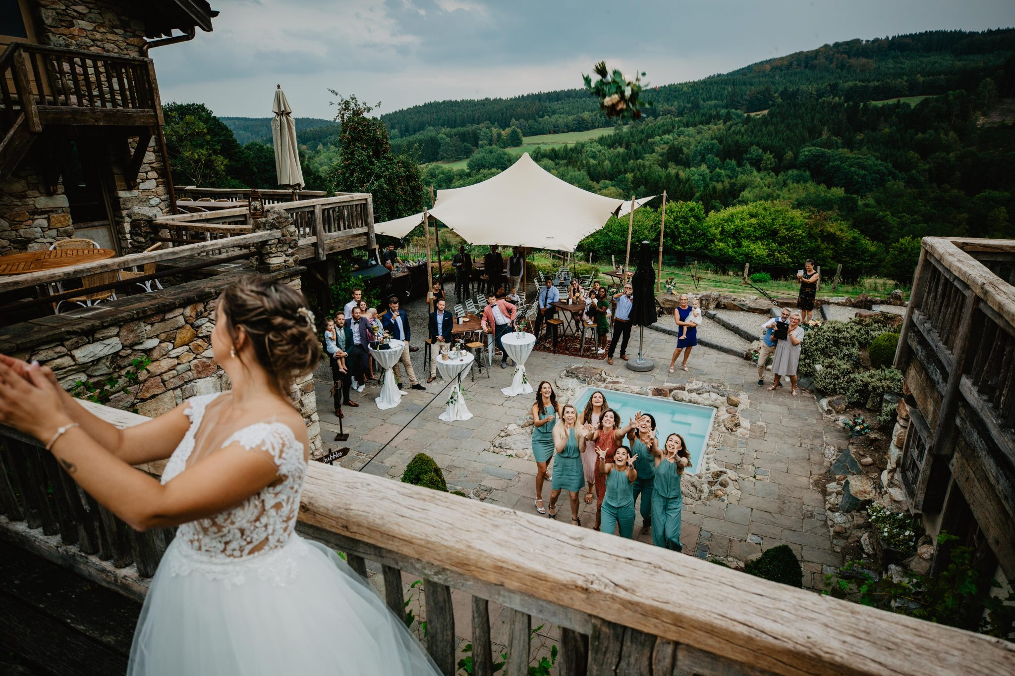 Boeket gooien tijdens de bruiloft?
