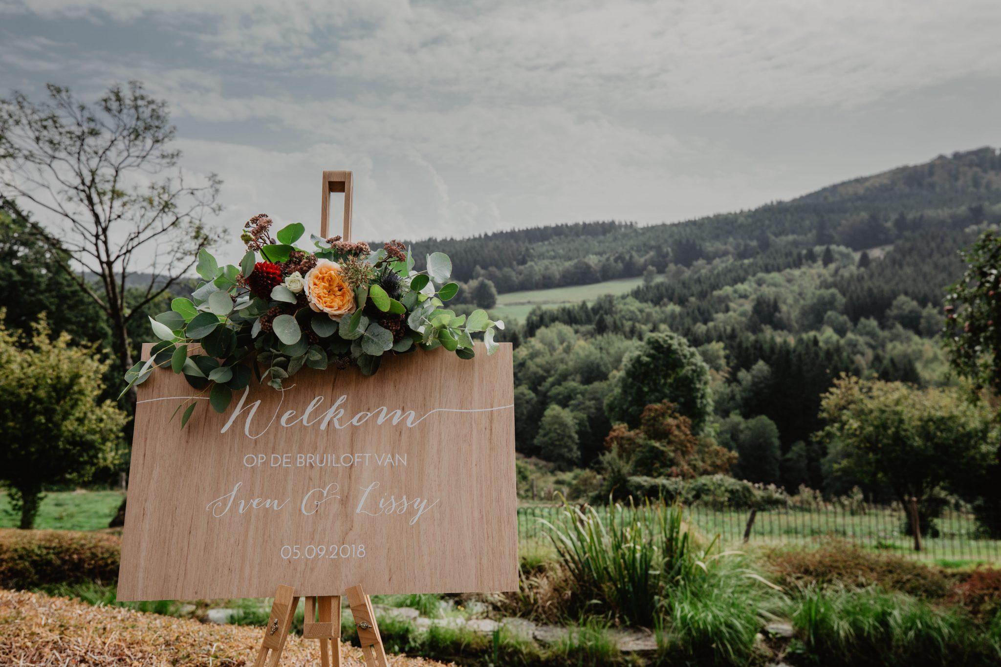 Welkom Bruiloft Trouwen Ardennen
