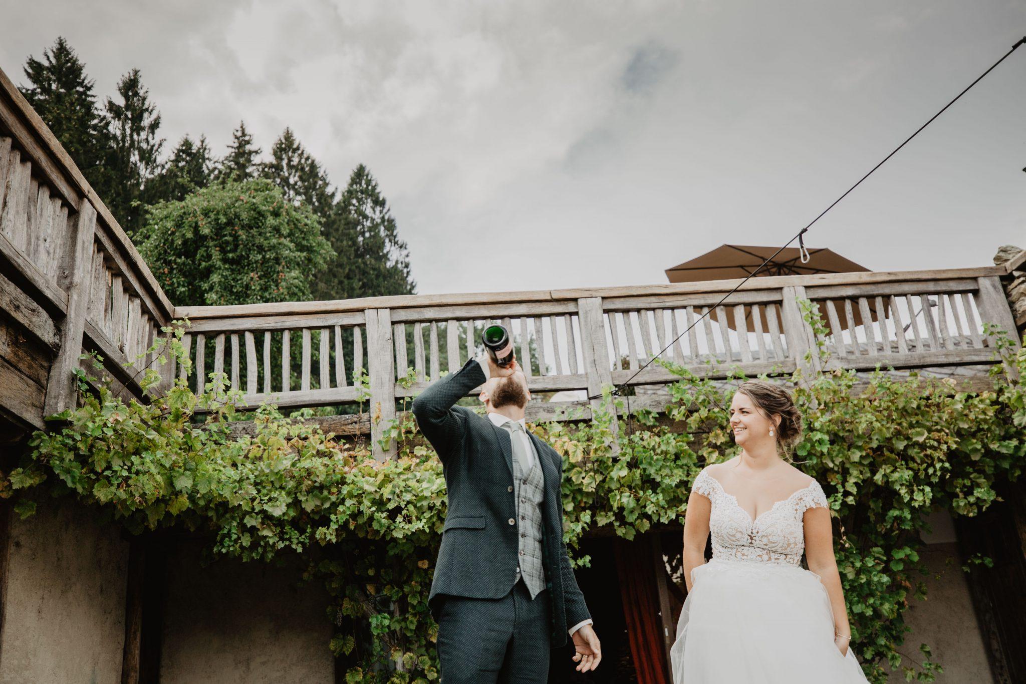 Champagne bruiloft
