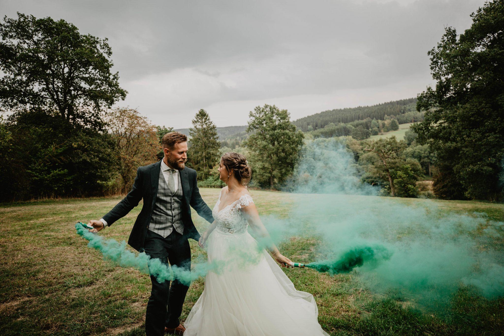 Rookboom Bruiloft Trouwen Ardennen Ferme Du Père Louis