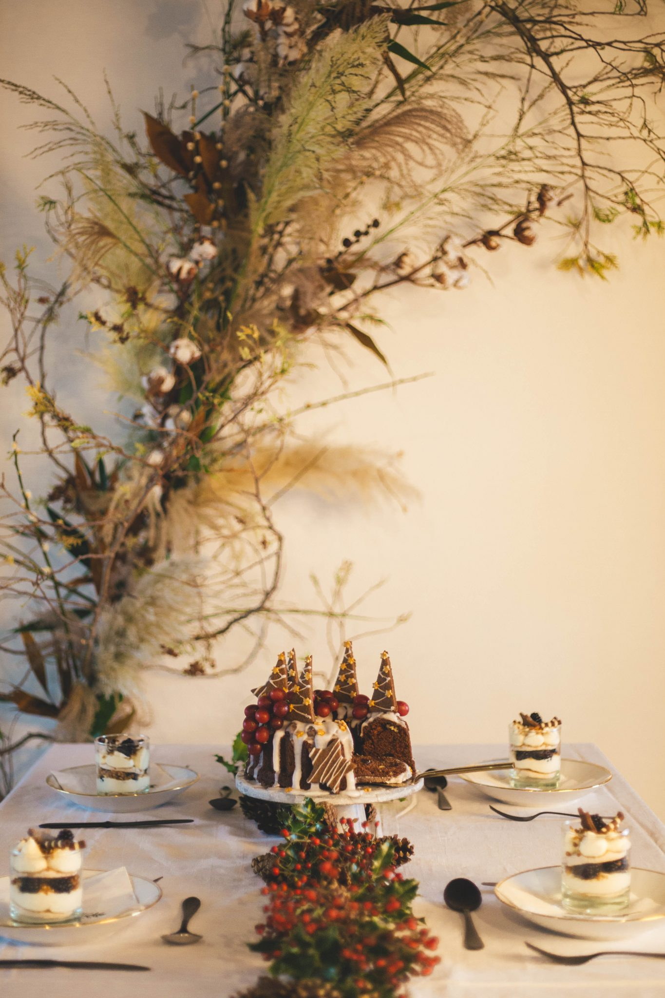 Christmas food styled shoot