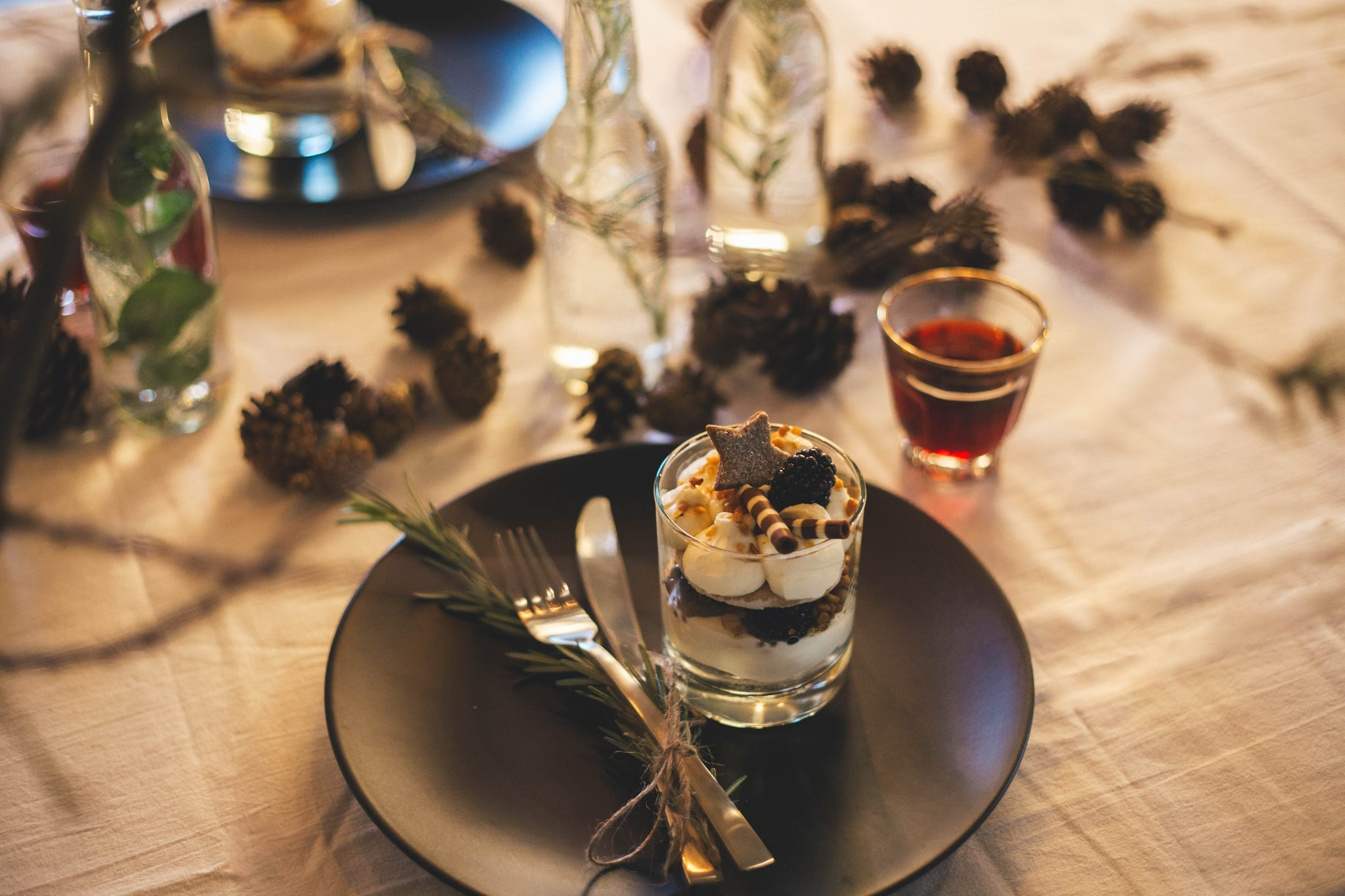 Christmas desert food photography