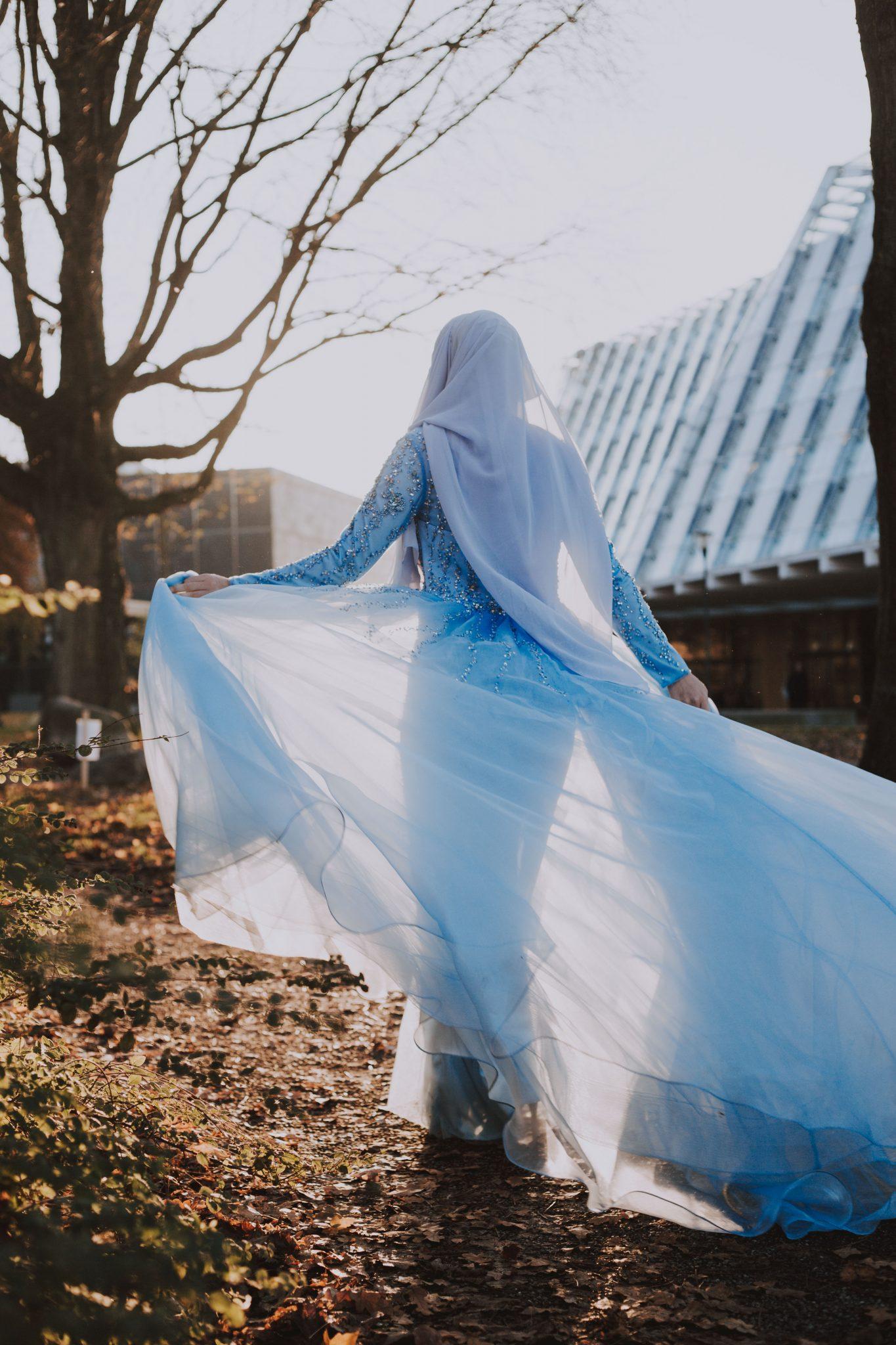 Bruid henna feest fotoshoot golden hour
