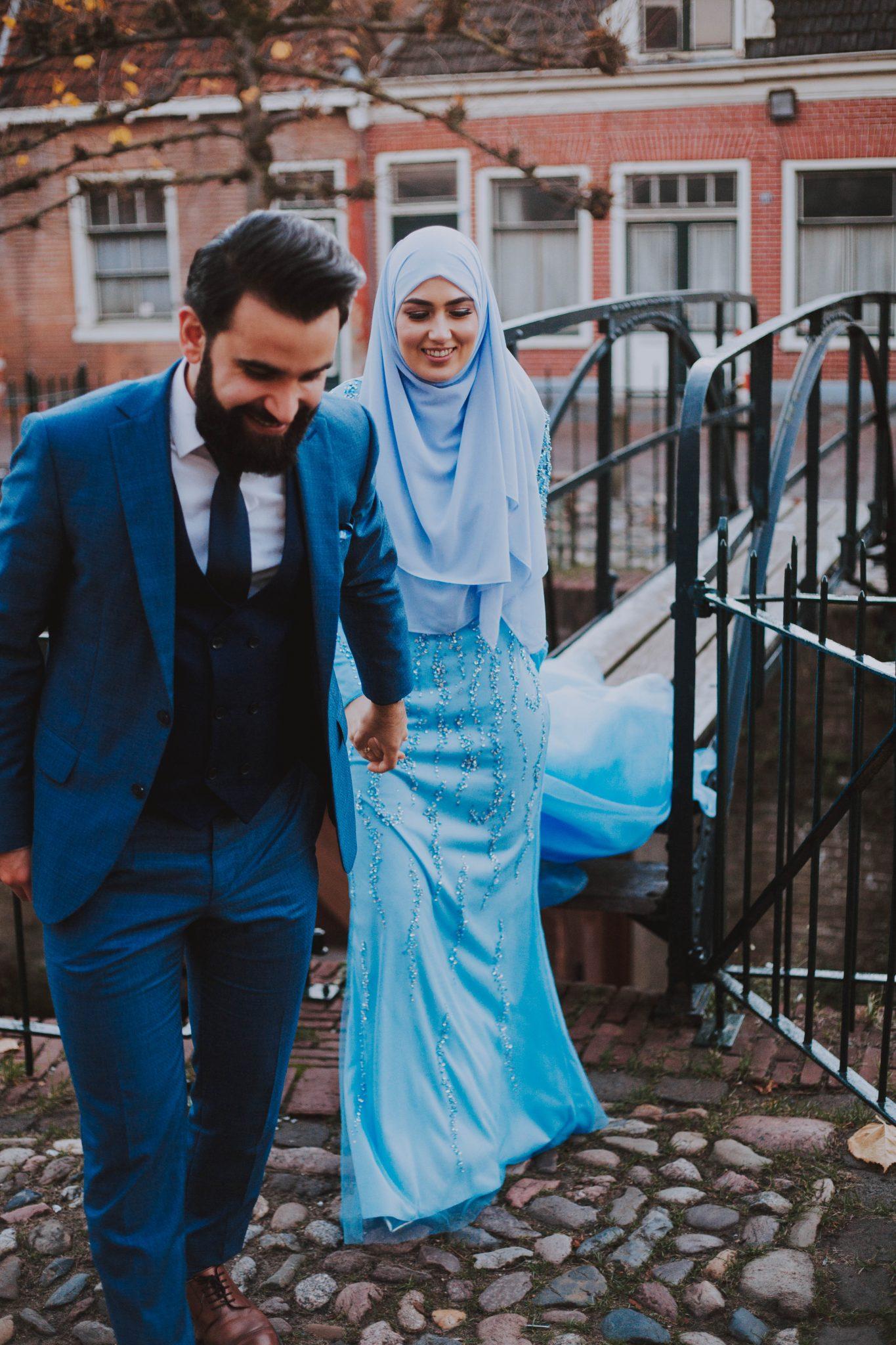 Bruidsfotograaf fotoshoot in de binnenstad van Amersfoort