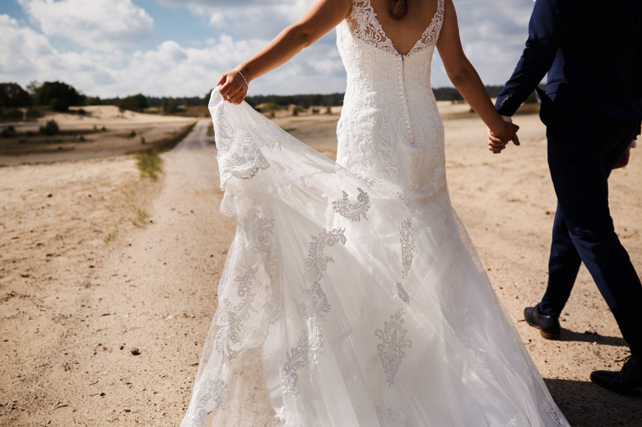 Bruidspaar fotoreportage zandverstuiving Harderwijk