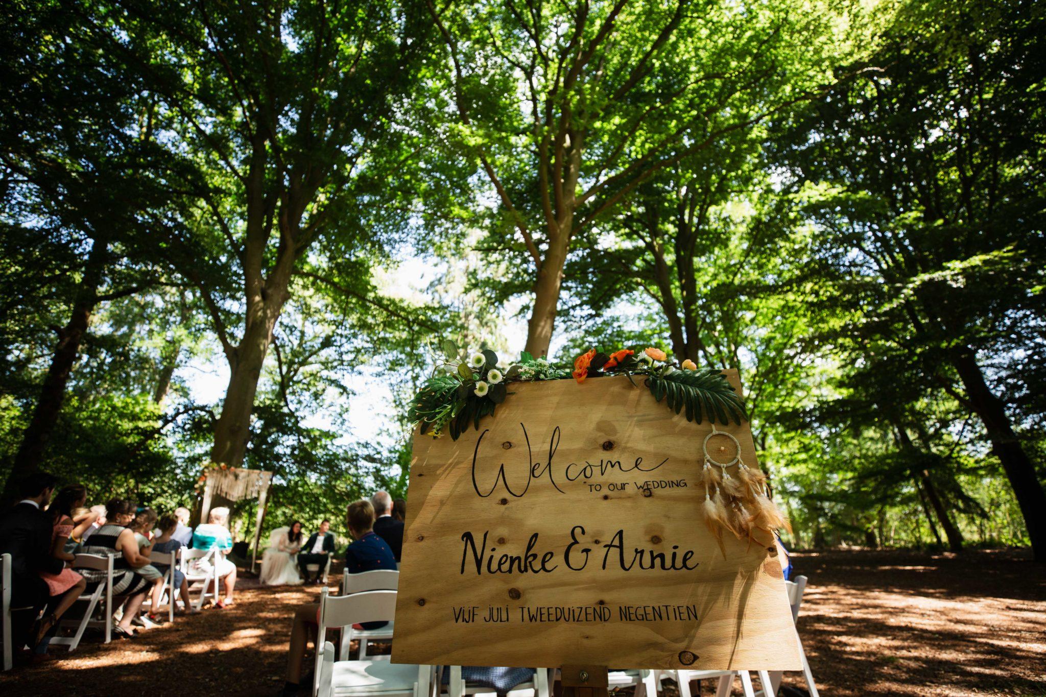 Bruiloft in het bos Leusden