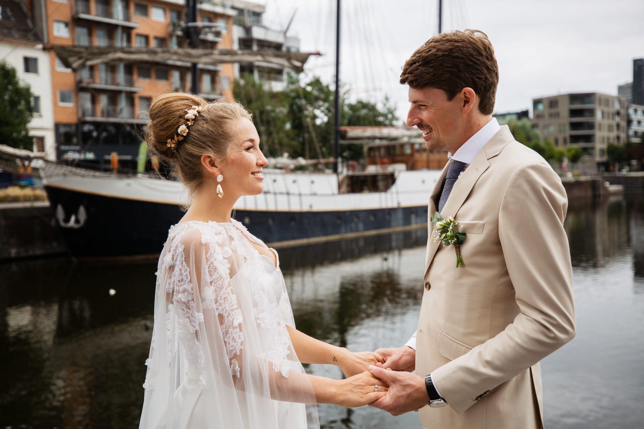 Bruiloft in Antwerpen haven