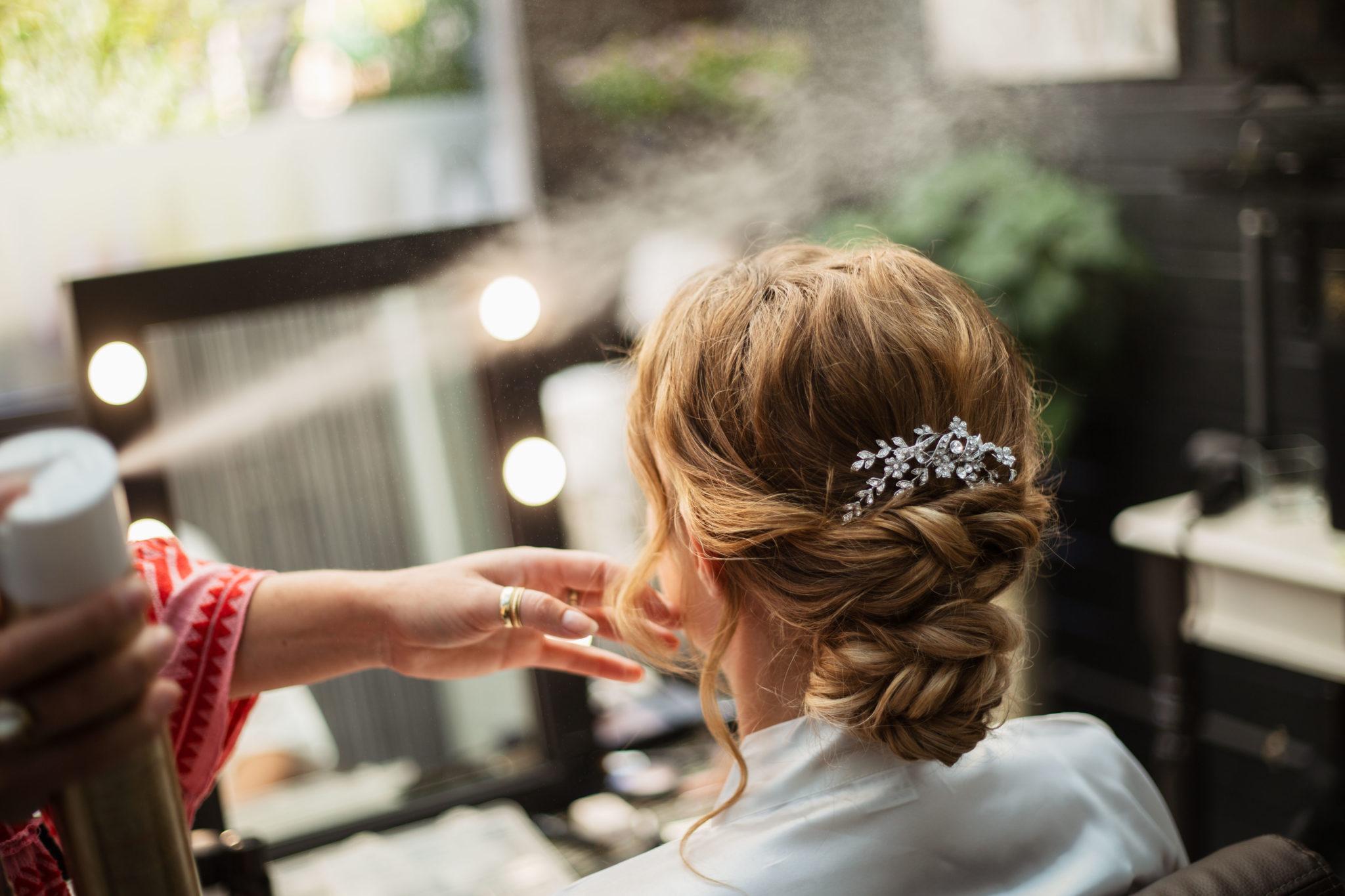 Hairdo Bruidskapsel Bruiloft Bruid