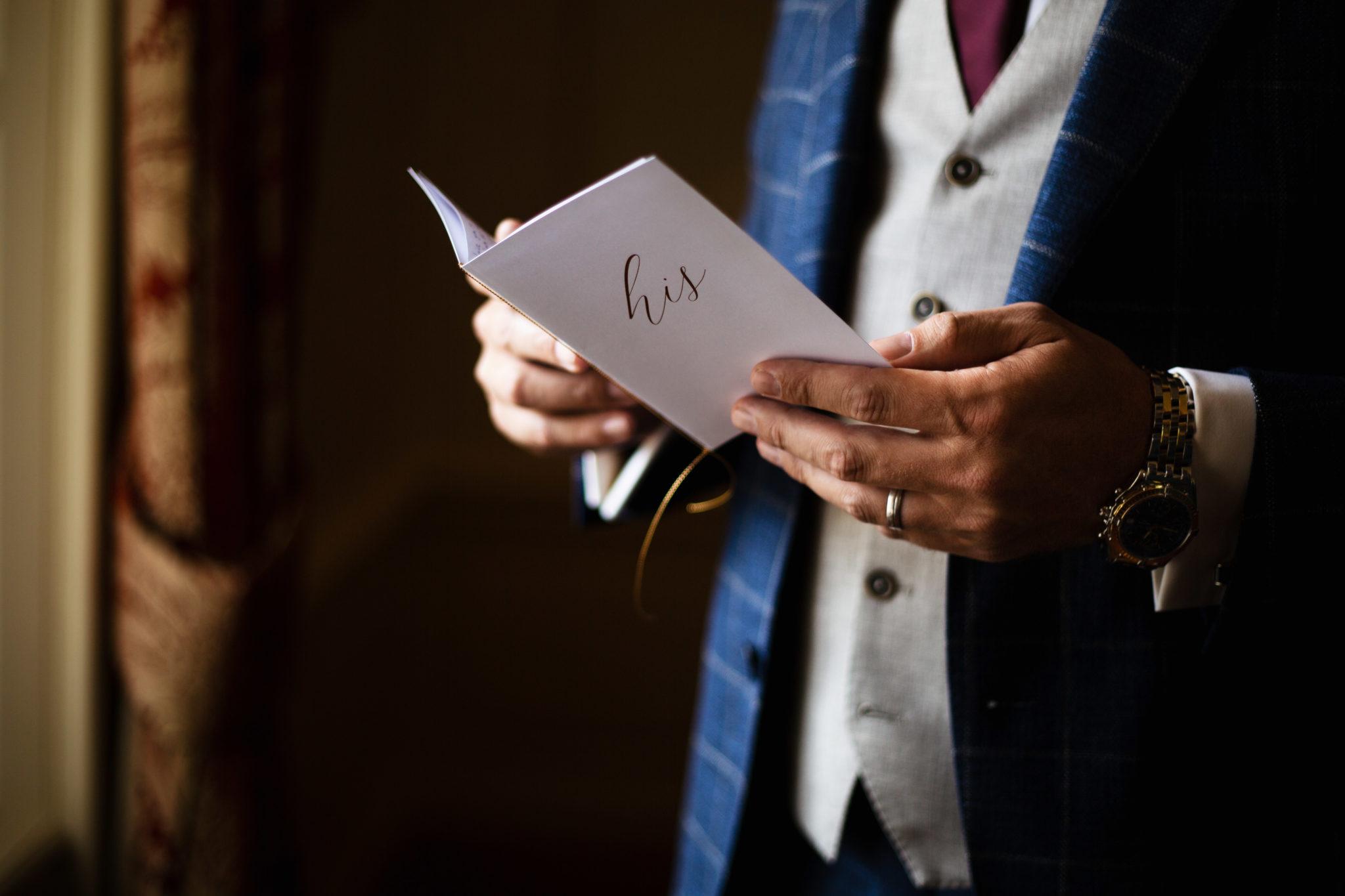 Vows voorbereiden Bruidegom