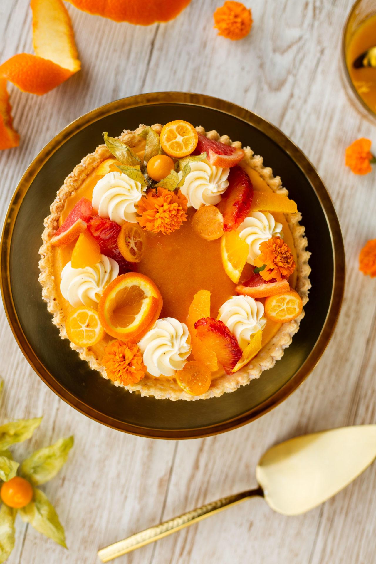 Food fotografie oranje taart
