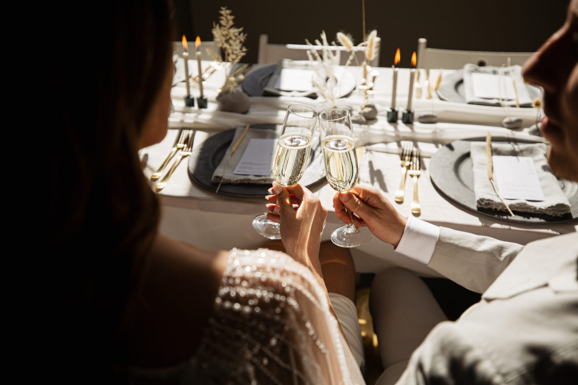 Diner setting Bruiloft