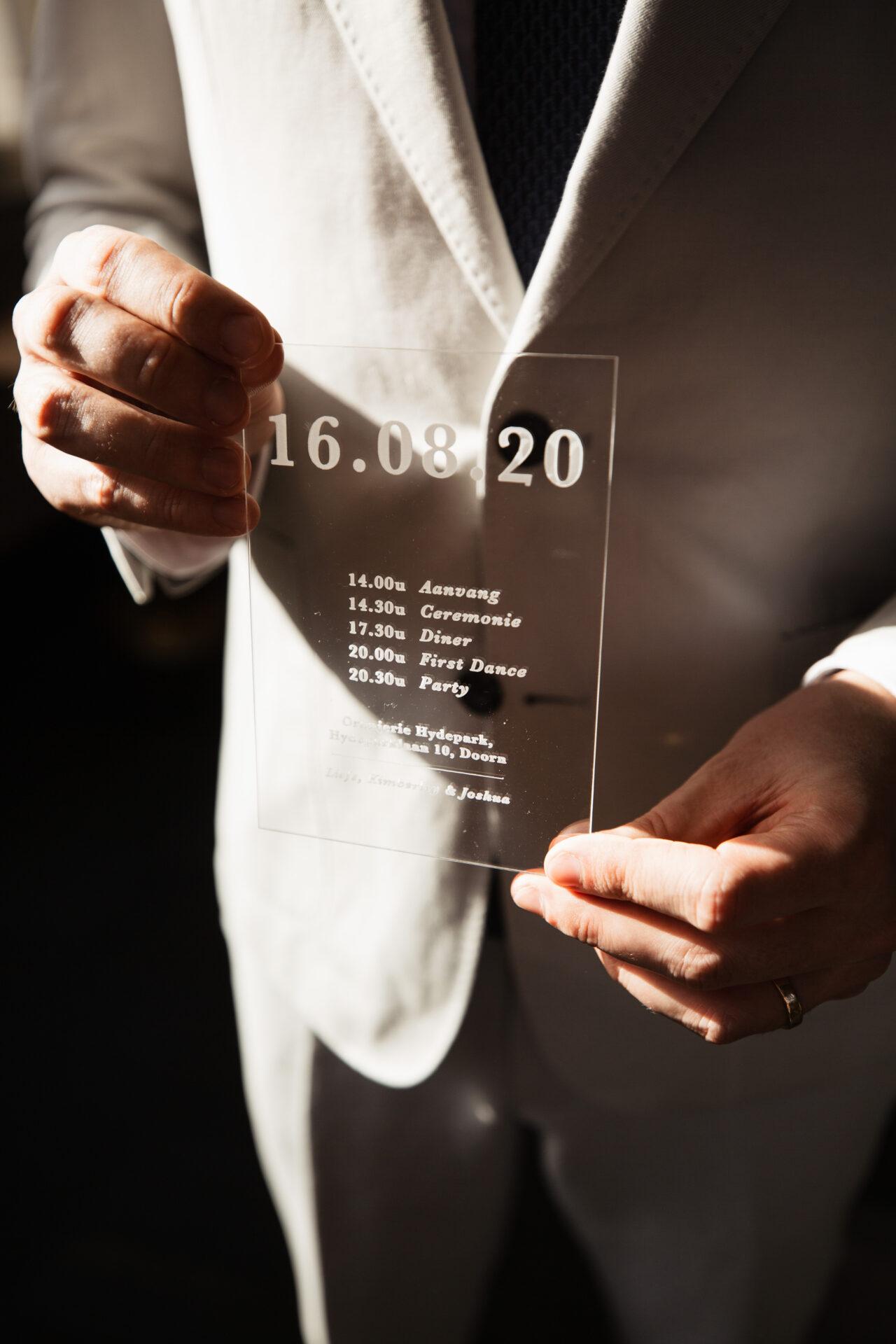Uitnodiging Bruiloft Trouwkaart