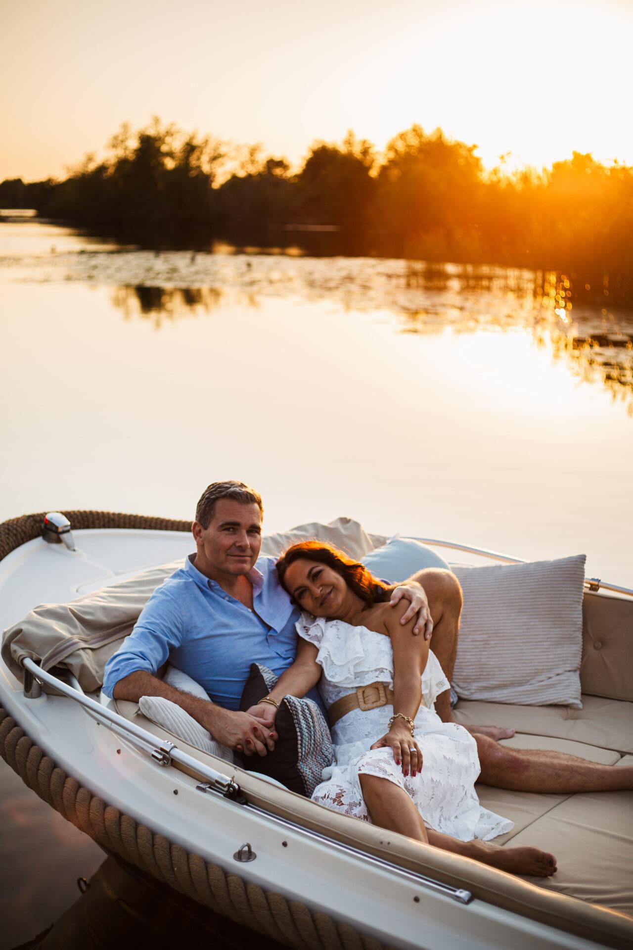 Loveshoot op een boot