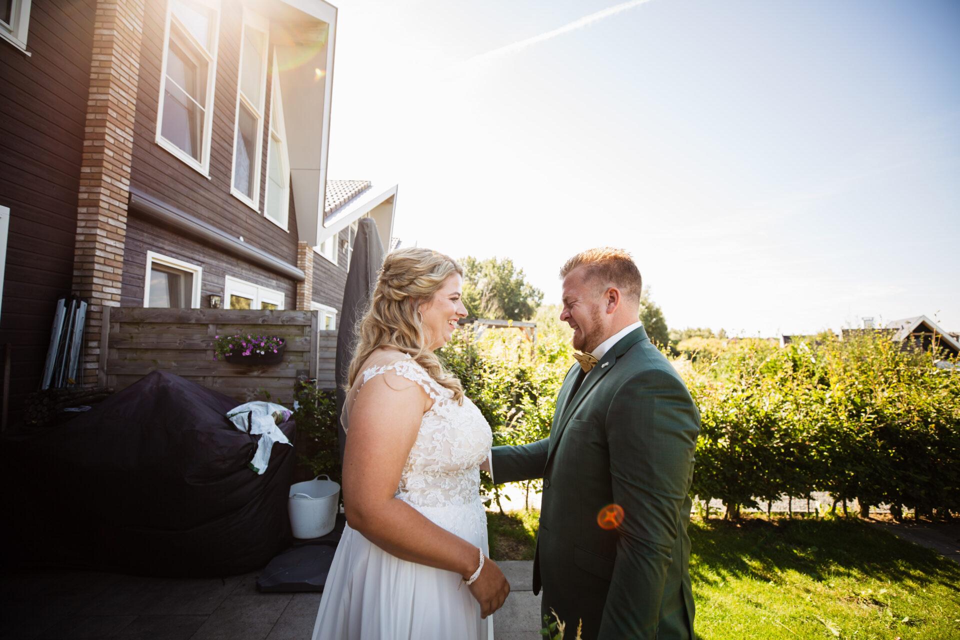 first look bruiloft