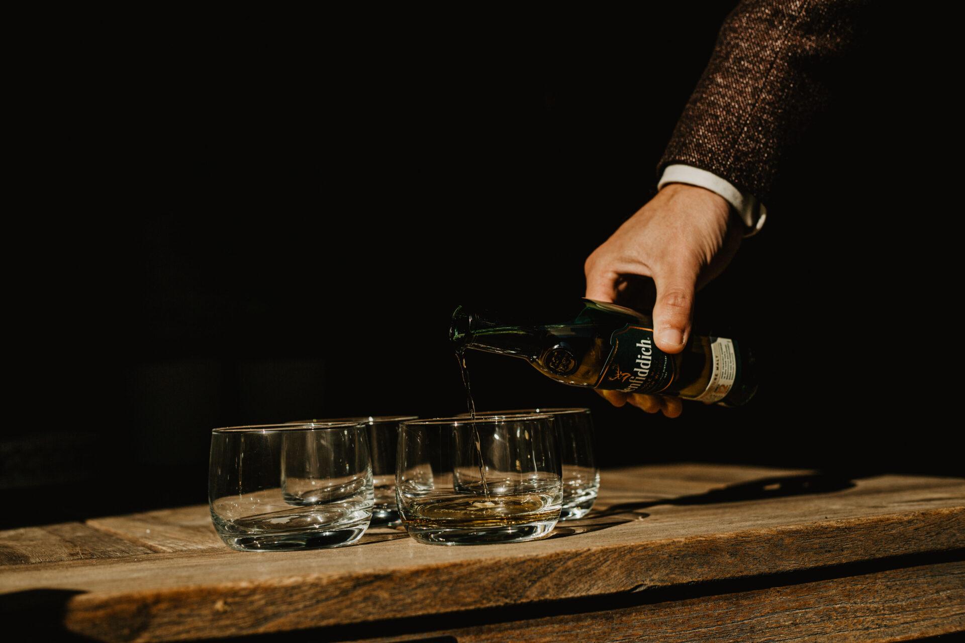 Whisky op trouwdag