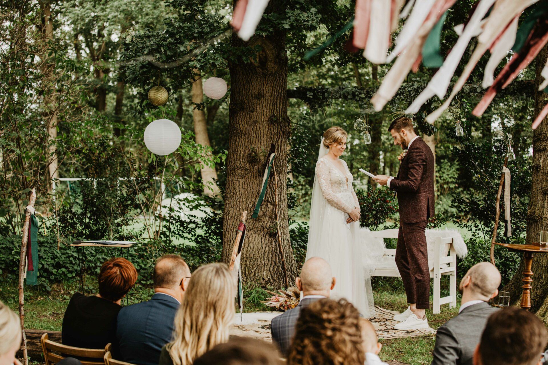 Ceremonie bruiloft hoeve kindergoed ermelo