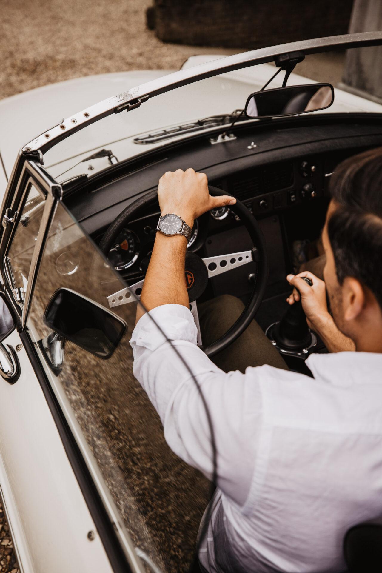 Trouwauto PORSCHE 356 SC CABRIOLET | WIT