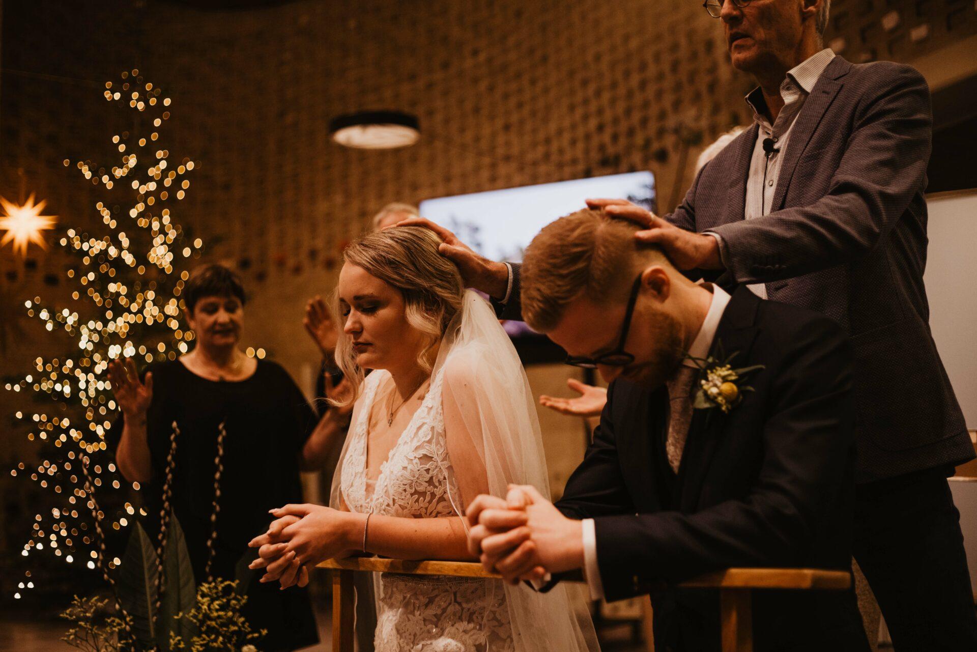 Kerkelijk inzegening bruidspaar