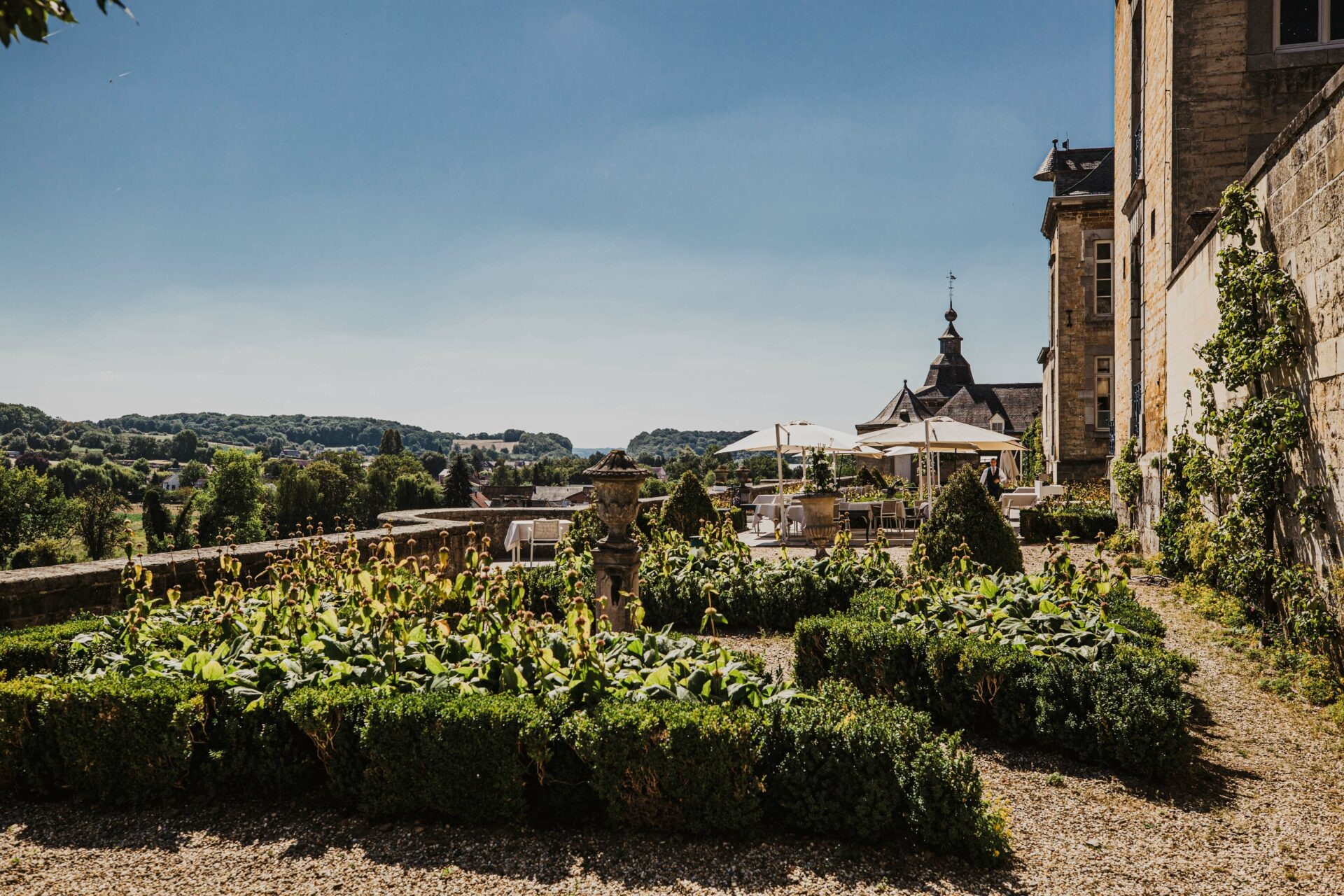 Restaurant terras Chateau Neercanne