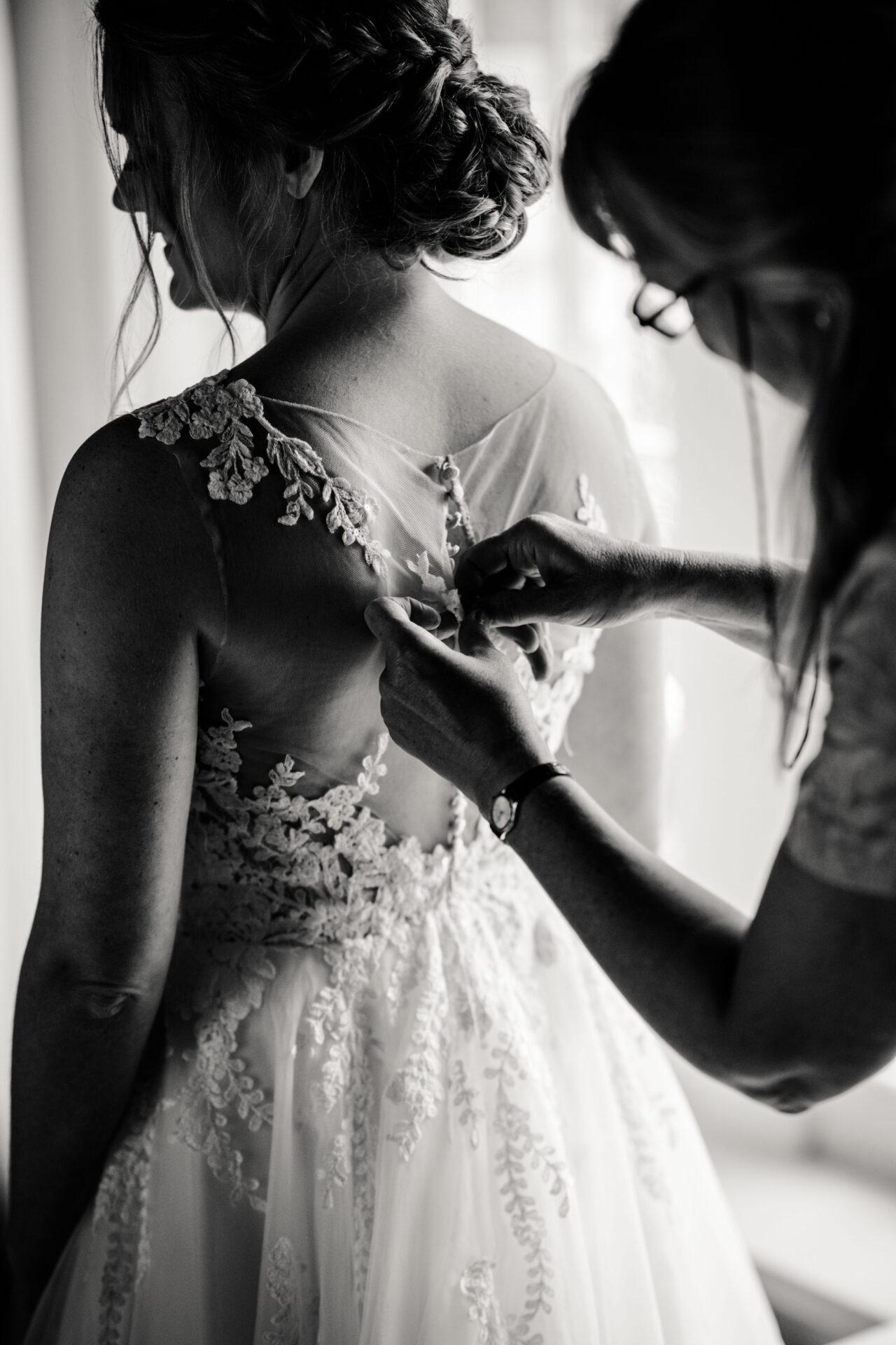 Getting ready bride