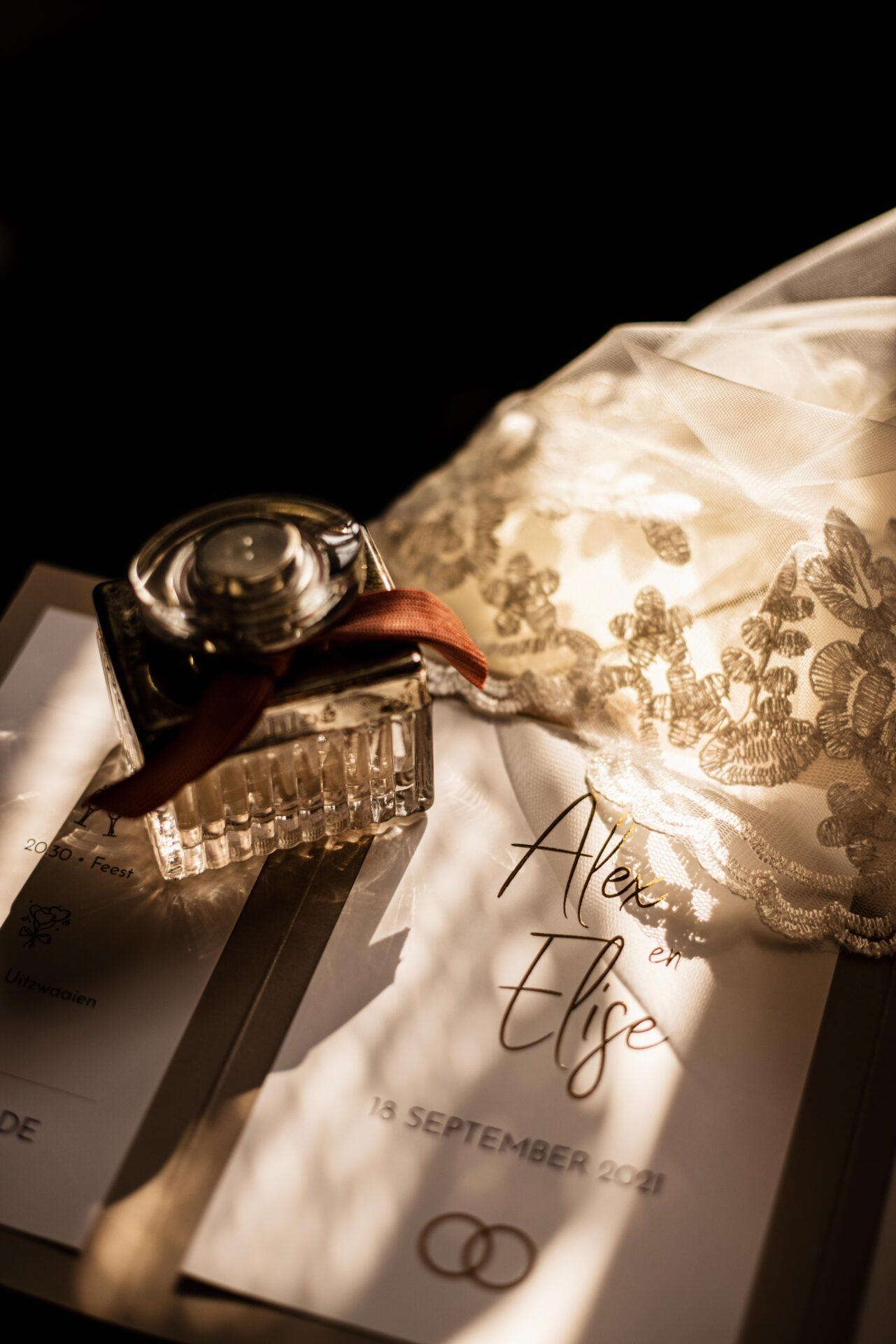 Uitnodiging Bruiloft Goudfolie